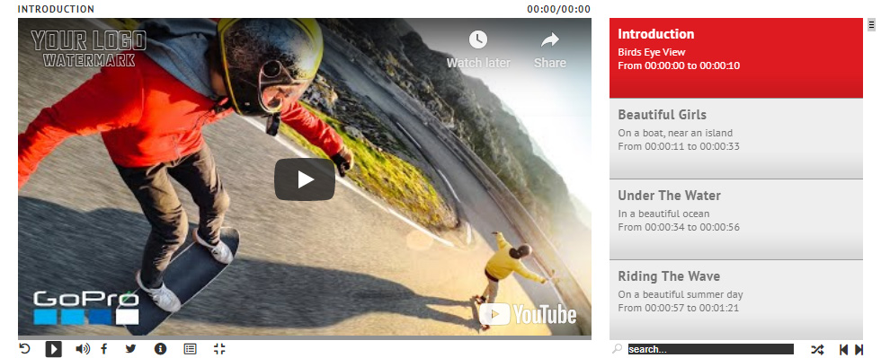 YouTube Video – Playlist Only With Text